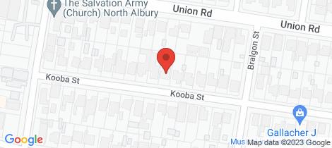Location map for 296 Kooba Street North Albury