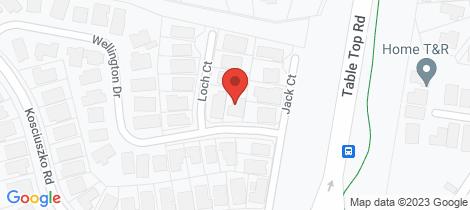 Location map for 26 Wellington Drive Thurgoona
