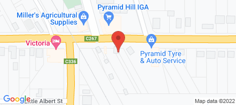 Location map for 32 Victoria Street Pyramid Hill