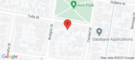Location map for 261 Tulla Street North Albury