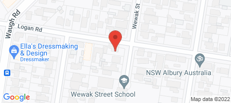 Location map for 989 Wewak Street North Albury