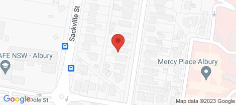 Location map for 729 Jones Street Albury