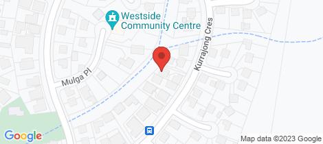 Location map for 41 Kurrajong Crescent West Albury