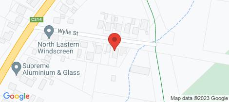 Location map for 14 Wylie Street Wangaratta