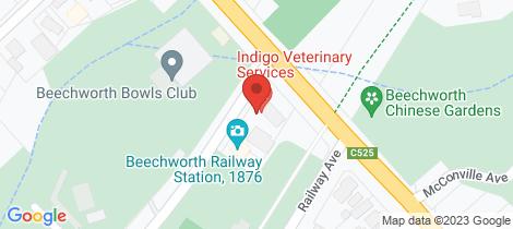 Location map for 1 Harper Avenue Beechworth