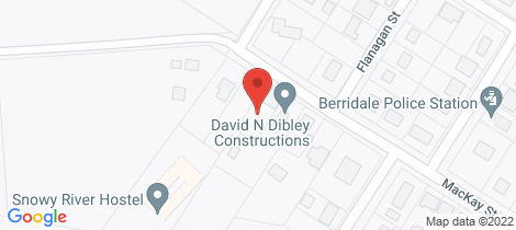 Location map for 38 Mackay Street Berridale