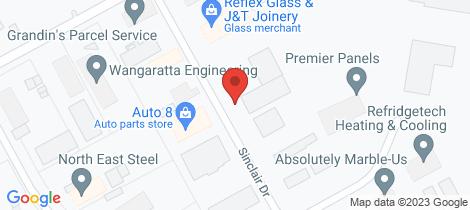 Location map for 24 Sinclair Drive - A+ Mini Storage Wangaratta