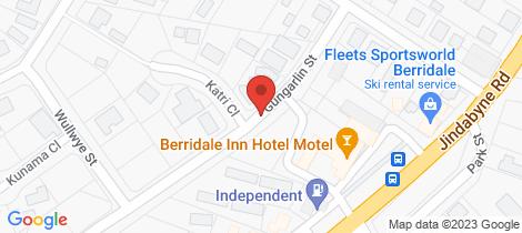 Location map for 6 Gungarlin Street Berridale