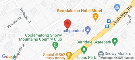 Location map for 16/5 Gungarlin Street Berridale