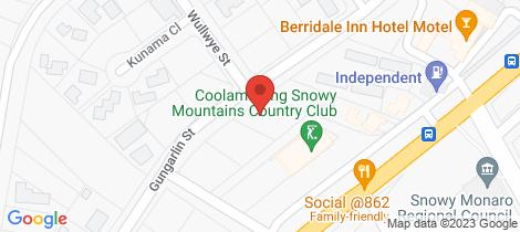 Location map for 13 Gungarlin Street Berridale