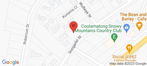 Location map for 14 Gungarlin Street Berridale