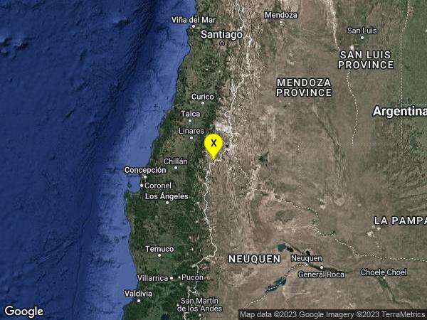 earthquake 66 km NNW of Las Ovejas, Argentina
