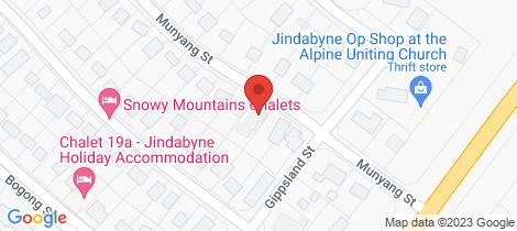 Location map for 1/24 Munyang Street Jindabyne