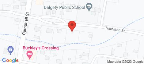Location map for 12 Hamilton Street Dalgety