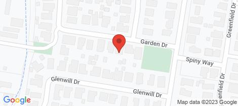 Location map for 10 Garden Drive Epsom