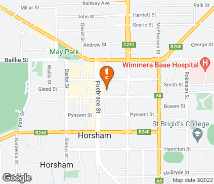 Map of Wimmera Hearing Society in Horsham