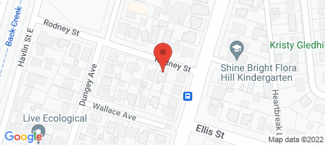 Location map for 1 Rodney Street Flora Hill