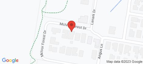 Location map for 157 McIvor Forest Drive Junortoun