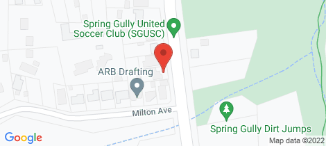 Location map for 84 Spring Gully Road Spring Gully