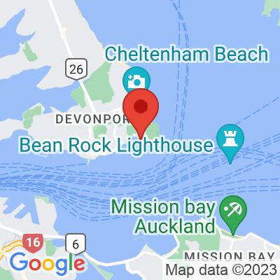 Map showing Torpedo Bay Cafe