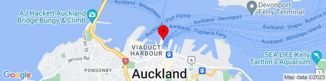 Google Map of -36.840338888888894, 174.76574444444444