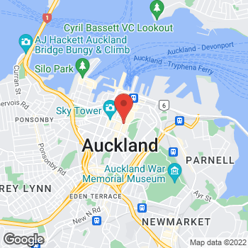 Map of STA Travel at 220 Queen Street, Auckland,  1010