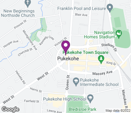 Map of 13 West Street in Pukekohe