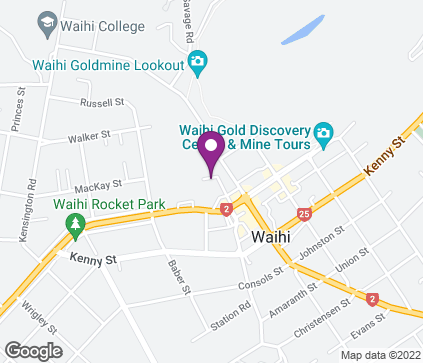 Map of Waihi Health Centre, 1 School Lane in Waihi