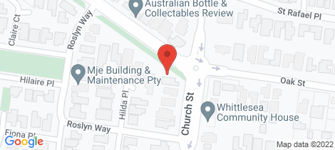 Location map for 121 Church Street Whittlesea