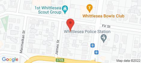 Location map for 44 James Street Whittlesea