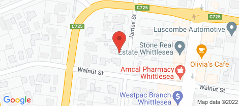 Location map for 23a James Street Whittlesea