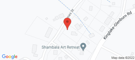 Location map for 9 James Street Kinglake