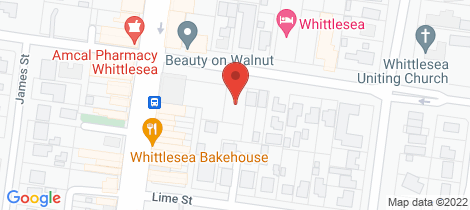Location map for 33 Walnut Street Whittlesea