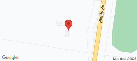 Location map for 1/2165 Plenty Road Whittlesea