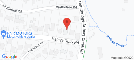 Location map for 8 Haleys Gully Hurstbridge