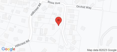 Location map for 42 Rose Ave Hurstbridge