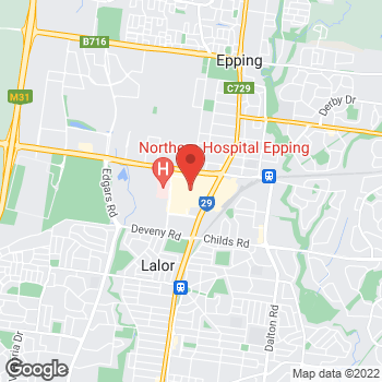 Map of Foot Locker Epping at Shop 77 Pacific Epping SC 571-583 High Street, Epping, NSW 3076