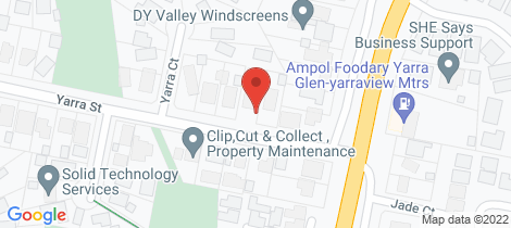 Location map for 19 Yarra Street Yarra Glen