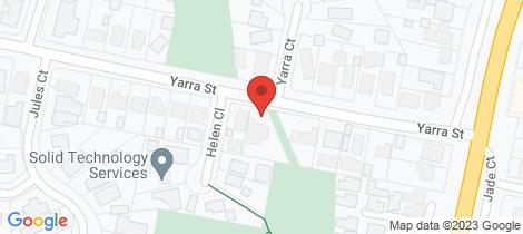 Location map for 24 Yarra Street Yarra Glen