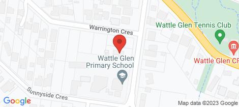 Location map for 14 Reynolds Road Wattle Glen