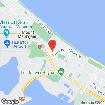 Map of Sunglass Hut at Girwin Rd Roundabout, Mt. Maunganui, BOP 3116