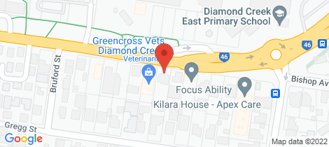 Location map for 112 Main Hurstbridge Road Diamond Creek