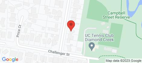 Location map for 10 Campbell Street Diamond Creek