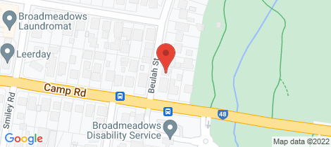 Location map for 2C Beulah Street Broadmeadows