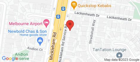 Location map for 140 Mickleham Road Tullamarine