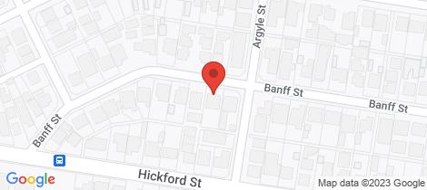 Location map for 23 BANFF STREET Reservoir