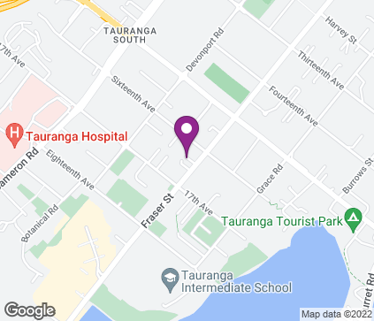 Map of 155 Fraser St in Tauranga