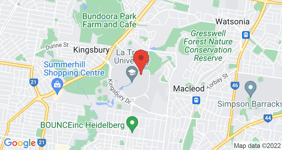 Google Map of La Trobe University - North and South Apartments