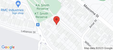 Location map for 57 Willonga Street Strathmore