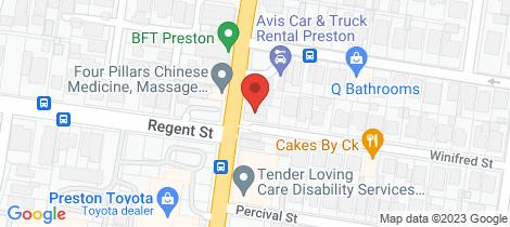 Location map for Rear 630 High Street Preston